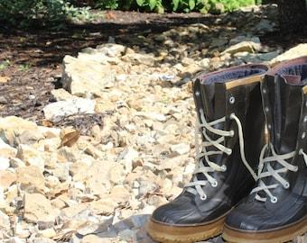 Vintage Lacrosse Outdoorsman Hunting Fishing Boots Vintage Rubber Boots Vintage Hiking Boots Vintage Hunting Boots