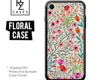 Floral Phone Case, iPhone 7 Case, Flower Phone Case, iPhone 6s Case, Floral iPhone Case, iPhone 5 Case, Rubber Case, Bumper Case