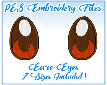 PES Eevee Eyes embroidery Files Instant Download- other formats on request!