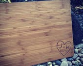 Personalized Cutting Board by Peak Engraving Personalized Custom Cutting Board Wedding Gift Cutting Board Engraved Cutting Board