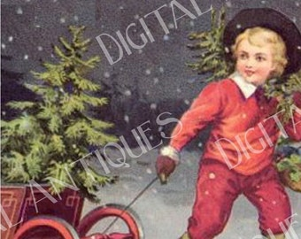 Jumbo Vintage Christmas Tags Printable Instant Digital Download
