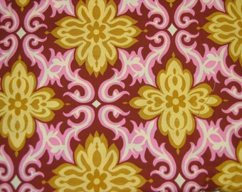 Amy Butler LOTUS - TEMPLE GARLAND in Clay - fabric 1 yard - selling my stash