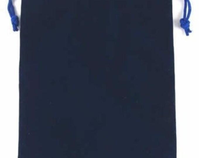 Dice Bags: Velvet Dice Bag - Blue (6in x 9in)