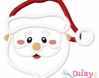 Santa Head Applique Instant Download