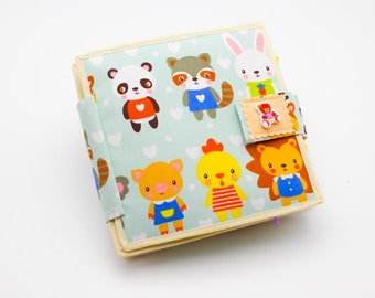 Baby Quiet Book - Travel toy - Travel Toddler - Montessori Toy - Personalized Felt Learning Book