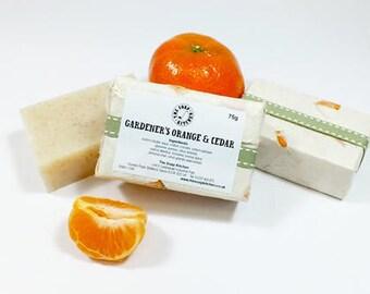Gardener's Orange and Cedar Natural Handmade Soap SLS Free
