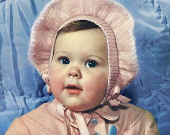 Bear Brand Baby Book Vol. 339 INFANTS To 4 YEARS Knitting & Crochet 1950s Chocked Full of Patterns