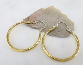 Brass Earrings ~ Hoop Earrings ~ Modern Earrings ~ Dangle Earrings ~ Gold Earrings ~ Everyday Earrings ~ Minimalist Earrings ~ Zen Earrings