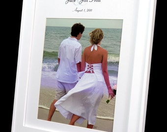 Personalized 11 x 14 Wedding Photo Mat