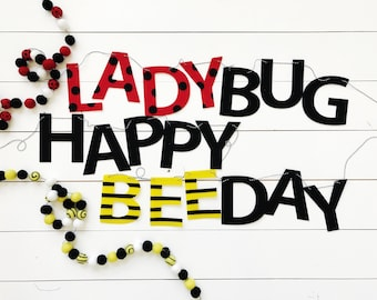 Lady Bug or Bee Themed Banner / Garland - READY TO SHIP!