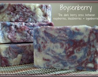 Boysenberry - Rustic Suds Natural - Organic Goat Milk Triple Butter Soap Bar - 5-6oz. Each