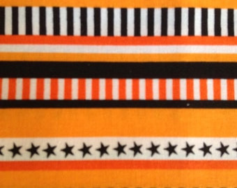 SALE - One Half Yard of Fabric Material - Halloween Stripe