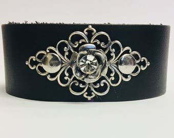 Rose filigree cuff