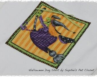 Halloween Dog Shirt - Dog Costume, Dog Shirt, Dog Tank,Pet Clothes,Pet Clothing,Dog Clothes,Dog Clothing,Witch Pet Costume,Halloween Costume