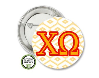 Chi Omega Pin Back Button, Pin Back, Greek Button, Sorority gift, Big Little Gift, Chi Omega Gift, Chi-O, Chi Omega big Little