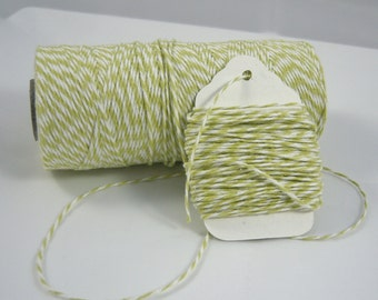 Bakers Twine - Twinery Twine - Your Choice of Amount - Honeydew twist
