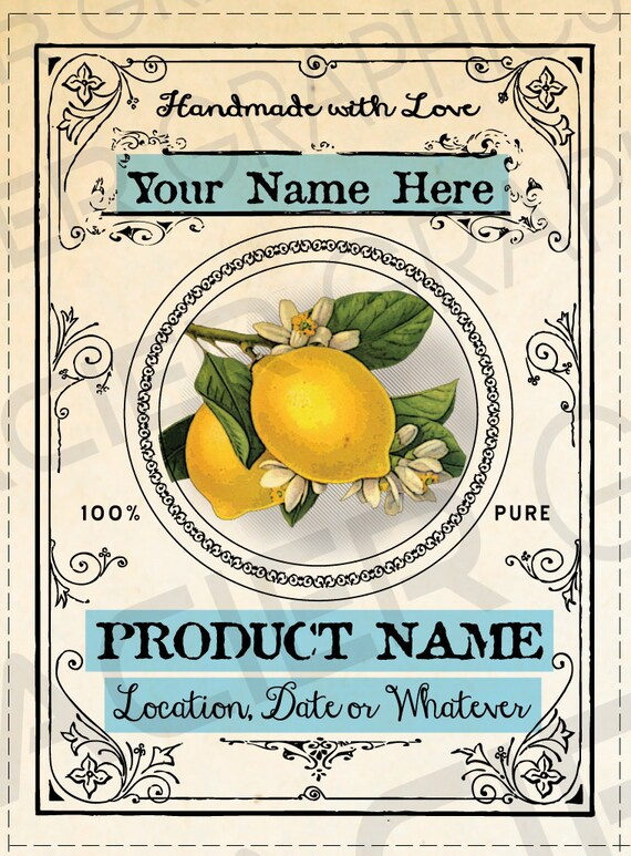 Relatively Limoncello Bottle Label Custom Limoncello Label Lemon Tags OK96