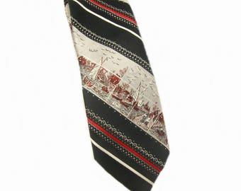 Vintage Nautical Neck Tie Men's Necktie Dino Orsini