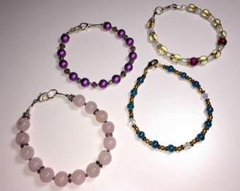 Four Gemstone Mixed Bracelets