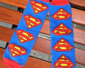 Clearance Baby Superman One Size Leg Warmers