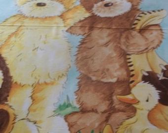 "Popcorn The Bear Baby Quilt Panel - 42 1/2"" X 35"""