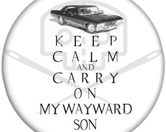 Supernatural- Inspired KEEP CALM Button