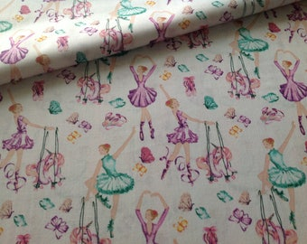 100% cotton fabric printed dancers