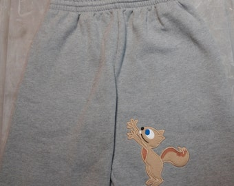 Squirrel Reaching - Sweatpants for men -Funny gift for boyfriend - Husband - or anyone in your life with a slightly warped sense of humor.