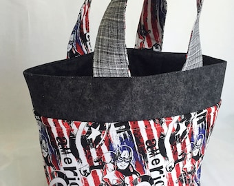 Captain America Medium Tote Bag