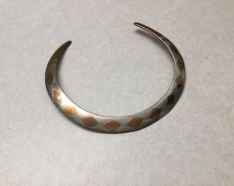 Vintage cuff necklace