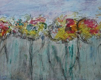 Abstract painting canvas flowers 71 abstract flowers painting