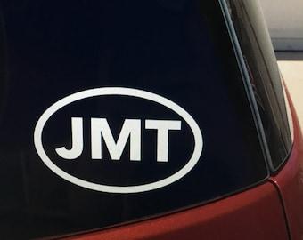 JMT (John Muir Trail) vinyl car window sticker