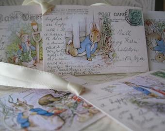 Digital Peter Rabbit Gift or Wish Tags - DIY Beatrix Potter Peter Rabbit Digital File instant Download Tags - Set 6 - pdf