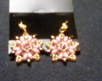 Starburst drop earrings