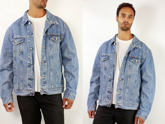 CARRERA Denim Jacket Mens Jean Jacket Carrera Denim Jacket Blue Jean Jacket Men Grunge Jacket Vintage Denim Jacket Denim Jacket Denim JJ249