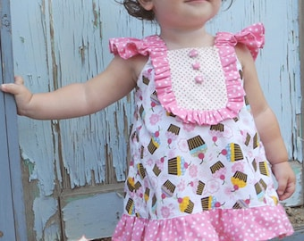 INSTANT DOWNLOAD- Reese Dress (sizes 6/12 months to 8) PDF Sewing Pattern and Tutorial
