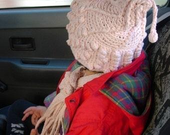 Sherpa Bubbles hat and scarf set - crochet pattern
