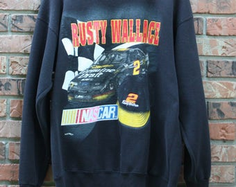90's Rusty Wallace NASCAR Vintage Sweatshirt Men's Large
