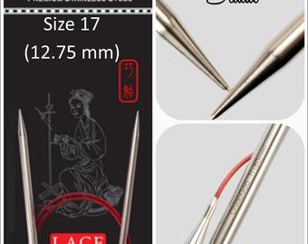 US 17 (12.75 mm) Chiaogoo Red Lace Circulars - Choice of Length
