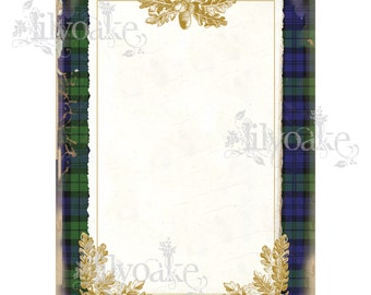 Blackwatch Tartan Panel Card