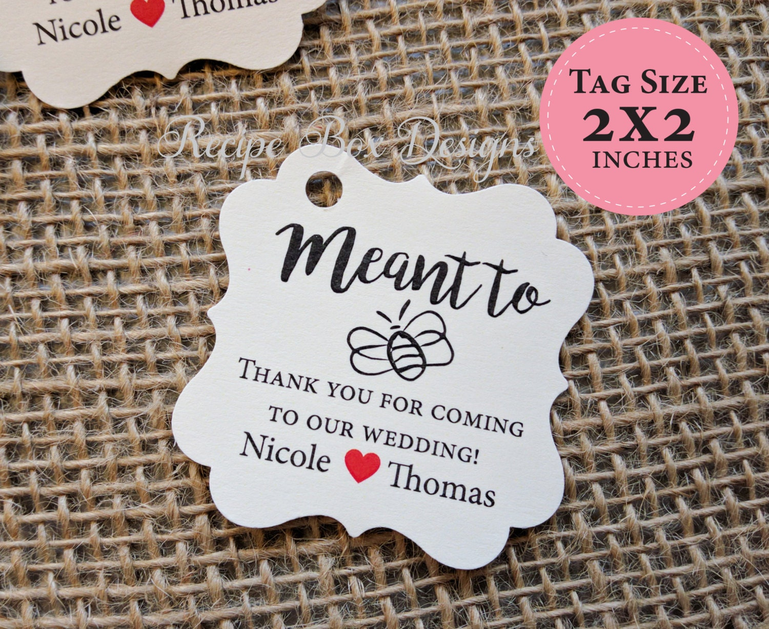 Honey Favor Label Tags Meant To Bee Wedding Favor Tags Custom Favor ...