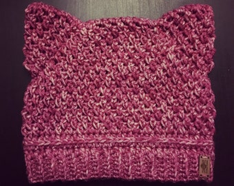 Hand Made Crochet Cat Hat *** Not available for BOGO deal ***