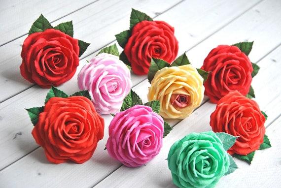 Hochzeit Haar-clips Rose Haar Accessoire Blume Haar Halter