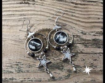 Black Constellation earrings