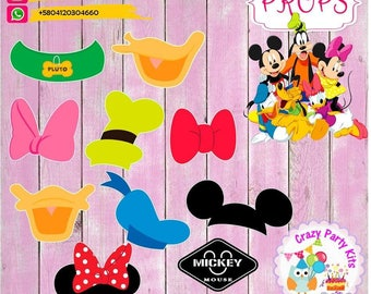 Props Mickey and his friends Kit #Imprimible (#Accesorios) #DIY PhotoBooth