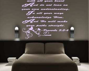 Proverbs 3:5-6 Wall Decal