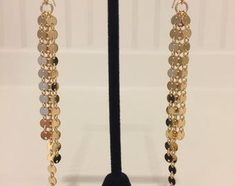 """The """"Naomi"""" 14k Gold filled 4mm disc chain Earrings"""