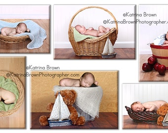 Babies and Baskets Digital Photography Backgrounds