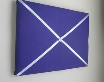 "11""x14"" Purple & SIlver Memory Board, Bow Board, Ribbon Board, Bow Holder, Vision Board, Photo Display, Business Card Holder"