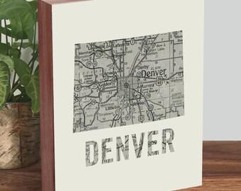 Denver Map - Denver Art - Colorado Art - Colorado Map - Colorado Print